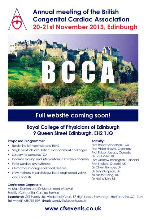 BCCA 2013 Annual meeting of the british congenital cardiac association edinburgh